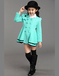 Girl's Casual/Daily Solid Suit & Blazer,Cotton Summer / Spring / Fall Blue / Red