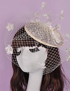 Mulheres Cestaria Linho Rede Capacete-Casamento Ocasião Especial Casual Ao ar Livre Fascinador 1 Peça