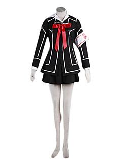 Innoittamana Vampire Knight Cosplay Anime Cosplay-asut Cosplay Puvut Patchwork Musta Toppi