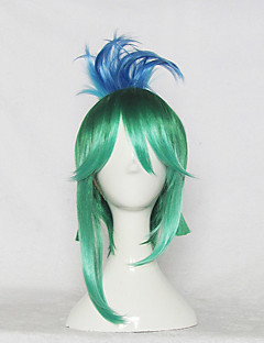 Cosplay Wigs LOL Cosplay Green Short Anime/ Video Games Cosplay Wigs 35 CM Heat Resistant Fiber Male / Female