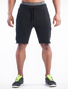Men's Running Shorts Bottoms Breathable Exercise & Fitness Racing Leisure Sports Running Cotton Gray Black