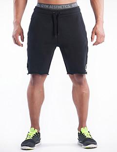 בגדי ריקוד גברים ריצה מכנסיים קצרים תחתיות נושם תומך זיעה נוח כושר גופני מירוץ ספורט פנאי ריצה כותנה משוחרר