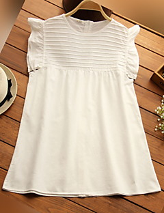 Maternity Round Neck Lace Shirt,Cotton Sleeveless