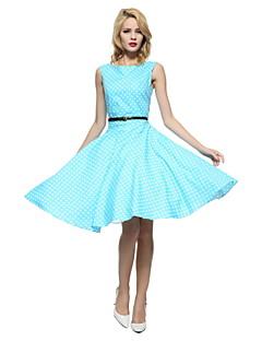 50s de Maggie espiga mulheres do vintage bolinhas pinup rockabilly Hepburn cos vestido de festa swing, plus size