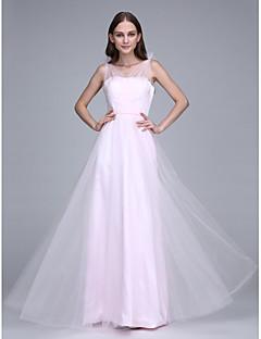 2017 Lanting vestido longo bride® tule dama de honra - correias com faixa