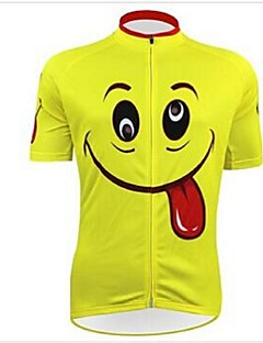 KEIYUEM® Cycling Jersey Unisex Short Sleeve BikeWaterproof / Breathable / Quick Dry / Anatomic Design / Rain-Proof / Waterproof Zipper /