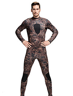 SBART Men's Diving Suits Diving Suit Compression Wetsuits 1.5 to 1.9 mm Army Green S / M / L / XL / XXL Diving