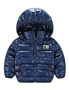 Boy's Casual/Daily Solid Down & Cotton Padded,Cotton / Polyester Winter / Fall Blue / Orange / Pink / Red