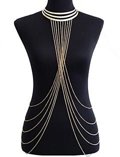 Γυναικεία Κοσμήματα Σώματος Αλυσίδα για την Κοιλιά Ιμάντες κολιέ Body Αλυσίδα / κοιλιά Αλυσίδα crossover Ευρωπαϊκό Μπικίνι Κοσμήματα με