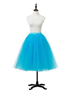 תחתונית  סליפ שמלת נשף באורך ברך 1 רשתות בד טול אקרילי לבן שחור אדום כחול סגול ורוד אפור