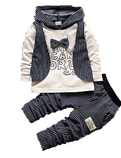 Boy's Casual/Daily Print Clothing Set,Cotton Fall Blue / Gray