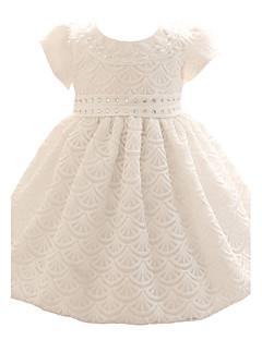 Babys blau / rosa Kleid, Bogen Polyester alle Jahreszeiten