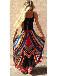 Women's Patchwork Multi-color Skirts