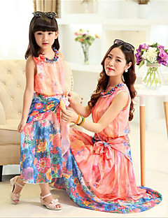 Short Sleeve Cotton Family Clothing Sets,Summer Dress