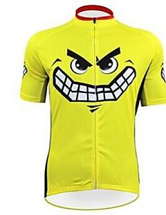 KEIYUEM® Cycling Jersey Unisex Short Sleeve BikeWaterproof / Breathable / Quick Dry / Anatomic Design / Rain-Proof / Waterproof Zipper /