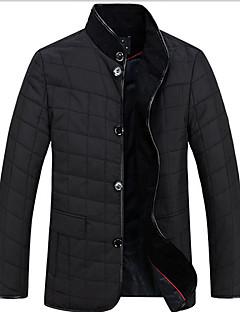 コート レギュラー パッド入り メンズ,ワーク カジュアル/普段着 ソリッド コットン コットン 長袖