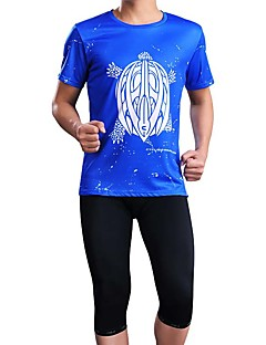 Sports® Cycling Jersey with Shorts Men's Short Sleeve Breathable / Sweat-wicking Bike Jersey + Shorts / Tops / Bottoms ElastaneSpring /