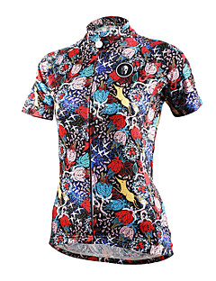 PALADIN® Camisa para Ciclismo Mulheres Manga Curta MotoRespirável / Secagem Rápida / Resistente Raios Ultravioleta / Compressão /