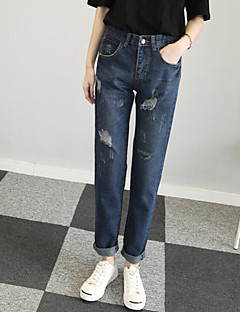 Women's Solid Blue / Beige Harem Pants,Vintage