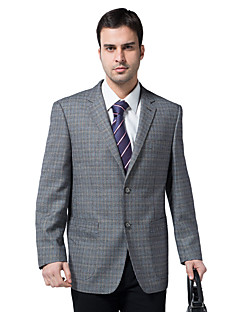 Suits Standard Fit Notch Single Breasted Two-buttons Polyester Checkered / Gingham 1 Piece  Patch Pocket None