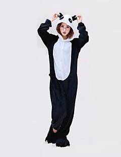 Kigurumi Pyjamas Panda Trikot/Heldragtskostumer Festival/Højtider Nattøj Med Dyr Halloween Sort hvid Geometrisk Kigurumi Til Unisex