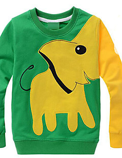 Girl's Casual/Daily Animal Print Hoodie & Sweatshirt,Cotton Winter / Spring / Fall Green