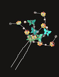 Women's Rhinestone / Brass / Imitation Pearl / Plastic Headpiece-Wedding Hair Pin 1 Piece