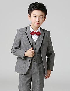 Хлопок Детский праздничный костюм - 6 Куски Включает в себя Жакет / Рубашка / Жилет / Брюки / Галстук-бабочка / Длинный галстук