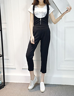 Combinaisons Aux femmes Sans Manches simple Coton / Polyester Moyen Non Elastique