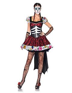Costumes Ghost / Skeleton Costume / Zombie / Vampires Halloween / Christmas / Carnival Red / Black Vintage Dress