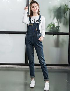 Schattig-Katoen / Polyester-Inelastisch-Jeans-Broek-Vrouwen