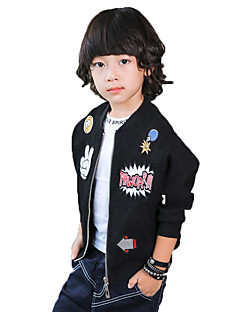 Boy's Casual/Daily Print Suit & Blazer / Vest / Jacket & Coat,Polyester / Others Spring / Fall Black