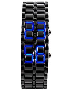 Pánské Módní hodinky Náramkové hodinky Unikátní Creative hodinky Digitální LED Kalendář Silikon Kapela Náramek Černá StříbroStříbrná