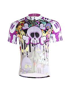 ILPALADINO חולצת ג'רסי לרכיבה לגברים שרוול קצר אופניים ג'רזי צמרותייבוש מהיר עמיד אולטרה סגול נושם רך דחיסה חומרים קלים רצועות מחזירי אור