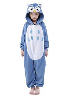 Kigurumi Pyjamas New Cosplay® Ugle Trikot/Heldragtskostumer Festival/Højtider Nattøj Med Dyr Halloween Blå Patchwork Fløjl Mink Kigurumi