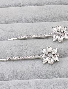 Women's Rhinestone Headpiece-Wedding Special Occasion Office & Career Hair Pin 1 Piece