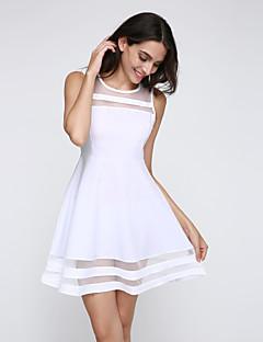 sexy / praia / casual / festa / mangas trabalho mini vestido das mulheres