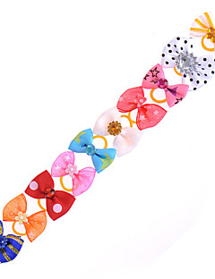 Cat / Dog Hair Accessories / Hair Bow Multicolor Dog Clothes Summer / Spring/Fall Bowknot Cute