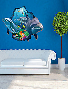 Tiere Wand-Sticker 3D Wand Sticker Dekorative Wand Sticker,PVC Stoff Repositionierbar Haus Dekoration Wandtattoo