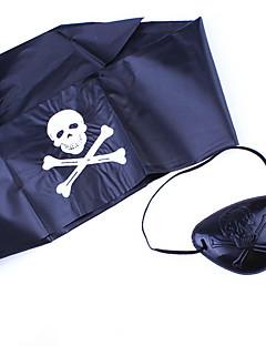 Halloween Utstyr Pirat Festival/høytid Halloween Kostumer Svart Trykt mønster Hodeplagg Halloween Unisex