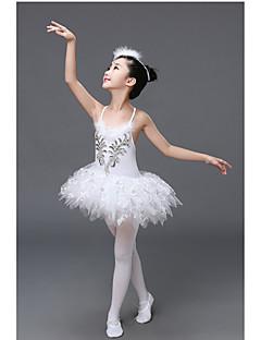 Balett Felszerelések Gyermek Teljesítmény Poliészter 1 darab Ujjatlan Természetes Ruha