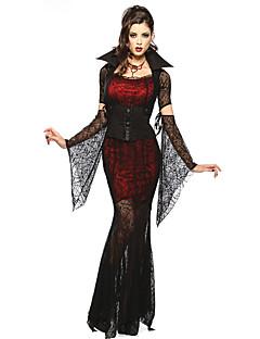 תחפושות קוספליי תחפושת למסיבה ערפדים פסטיבל/חג תחפושות ליל כל הקדושים אדום ושחור תחרה חצאית שרוולים חגורה שרשרת האלווין (ליל כל הקדושים)