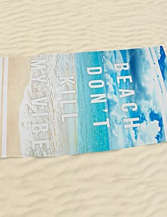 ビーチタオルプリント 高品質 マイクロファイバー100% タオル