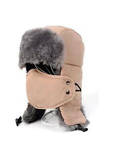 Chapka-lue Pelslue Ski Ansiktsmaske Hatt Herre Hold Varm Snowboard Polyester Rød Svart Lys KhakiSki Camping & Fjellvandring Snøsport