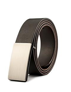 Men Cowhide / Leather Waist Belt Skateboard Metal Buckle Belt,Vintage / Party / Work / Casual  All Seasons