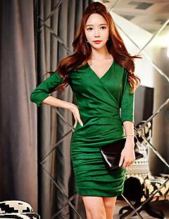 Shift Sukienka Obuwie damskie Wyjściowe / Impreza/Przyjęcie / Motyw świąteczny Seksowna / Moda miejska / Wyrafinowany styl Jendolity kolor