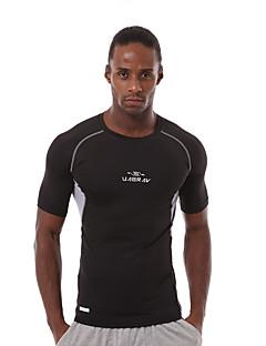 Homens Manga Curta Corrida Pulôver Camiseta Secagem Rápida Respirável Redutor de Suor Confortável Primavera Verão Outono Moda Esportiva