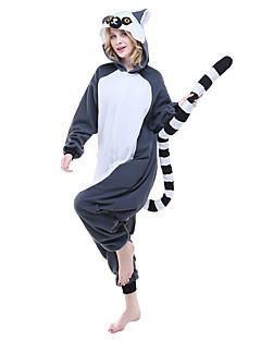 Kigurumi Pijamas Malha Collant/Pijama Macacão Festival/Celebração Pijamas Animal Cinzento Animal Lã Polar Kigurumi Para UnisexoDia Das