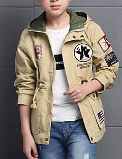 Boy's Casual/Daily Embroidered Jacket & Coat,Polyester Spring / Fall Brown / Green / Orange