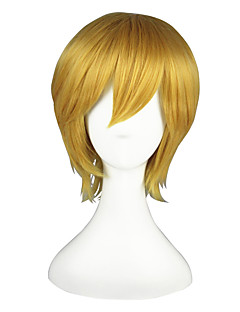 Cosplay Wigs Kuroko no Basket Kise Ryota Golden Short Anime Cosplay Wigs 35 CM Heat Resistant Fiber Male / Female